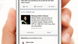 Facebook users across Canada will get Amber Alert notices right in their social network newsfeeds, as part of a new program that aims to leverage the social network's reach to quickly locate missing children.
