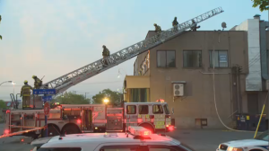 Fire broke out at the back of the building that houses Mikasa Sushi Bar in Labal, then climbed to the second floor and spread to a neighbouring Subway restaurant.