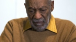 Entertainer Bill Cosby pauses during a news conference on Nov. 6, 2014. The University of San Francisco Board of Trustees has voted to rescind an honorary degree given to Cosby in 2012. (AP / Evan Vucci)