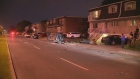Two people were injured and cars were damaged after a hit-and-run in Longueuil early Tuesday.