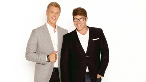 Steven Sabados, left, and Chris Hyndman, right, of the Steven and Chris show. Image copyright CBC