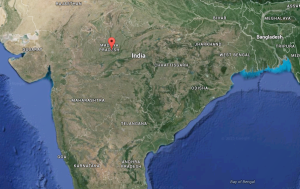 At least 24 people were killed when two passenger trains derailed in central India as monsoon rains flooded a track, officials said Wednesday. (Google Maps)