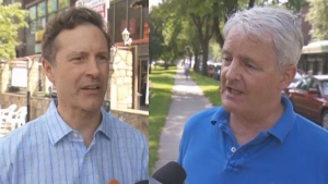 Jim Hughes and Marc Garneau will battle over the newly drawn NDG-Westmount riding.