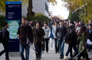 University of British Columbia students walk on the campus in Vancouver, B.C., on Wednesday October 30, 2013. (Darryl Dyck/THE CANADIAN PRESS)