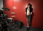 Chrissie Hynde poses for photographs at a north London recording studio, Tuesday, June 10, 2014, following the release of her first solo venture, entitled Stockholm, six years after the last Pretenders album. (Photo by Joel Ryan/Invision/AP)