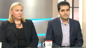 Lifeline Syria spokesperson Wendy Cukier and Loay Almously, a refugee from Syria, speak on CTV's Canada AM on Friday, Sept. 4, 2015.