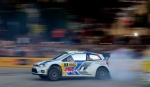 In this file photo, France's Sebastien Ogier and his co-driver Julien Ingrassia steer their Volkswagen Polo during the Rally of Catalonia in Barcelona, Spain, Thursday, Oct. 23, 2014. (AP/Manu Fernandez)