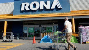 In this file photo, a man enters a Rona store in St. Eustache, Que., on July 16, 2015. (Ryan Remiorz / THE CANADIAN PRESS)