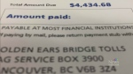 CTV Vancouver: Driver dinged with $4400 toll bill