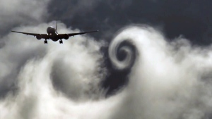 Extended: Huge Boeing produces cloud spirals
