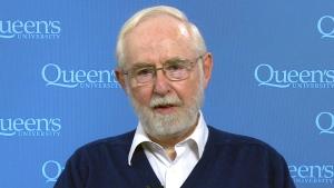 Canadian Nobel Prize winner Arthur B. McDonald appears on CTV News, Tuesday, Oct. 6, 2015.
