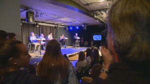 Candidates in Ahuntsic-Cartierville debated before students at the College Andre Grasset on Oct. 7.