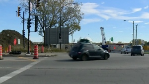 CTV Montreal: Angrigon overpass closed