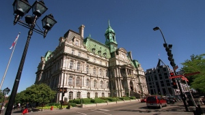 A view of Montreal City Hall, Wednesday, August 7, 2002 in Montreal. (CP PHOTO/Paul Chiasson)
