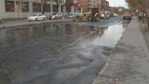 Image result for water main break :montreal.ctvnews.ca