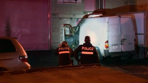 A van parked on 18th Ave. between Cremazie and Villeray was set on fire (CTV Montreal/Cosmo Santamaria)