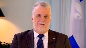 Quebec Premier Philippe Couillard speaks to CTV's Power Play on Dec. 22, 2015.