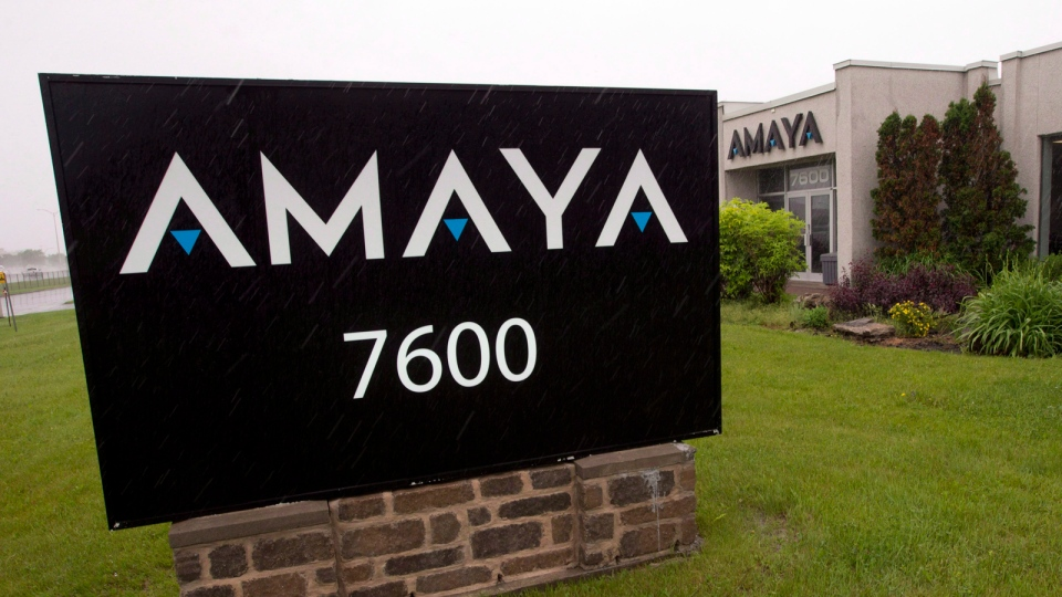 The Amaya Gaming Group headquarters are seen on June 13, 2014 in Montreal. (Ryan Remiorz / THE CANADIAN PRESS)