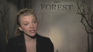 Natalie Dormer plays twins Jess and Sara in supernatural horror film The Forest, out in theatres Jan. 8.