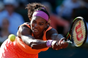 In this June 4, 2015, file photo, Serena Williams, of the United States, returns a shot in her semifinal match of the French Open tennis tournament against Timea Bacsinszky, of Switzerland, at the Roland Garros stadium in Paris. (AP/Francois Mori, File)