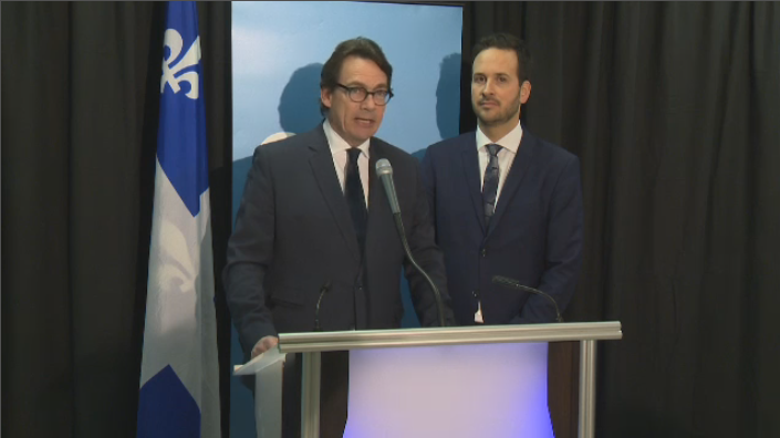 "Pierre Karl Peladeau, speaking with PQ MNA Alexandre Cloutier, said he is ""flabbergasted"" by the Liberals' decision to not invite the EMSB to public consultations on the school board reform bill."
