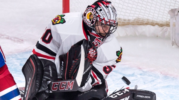 Corey Crawford makes a save