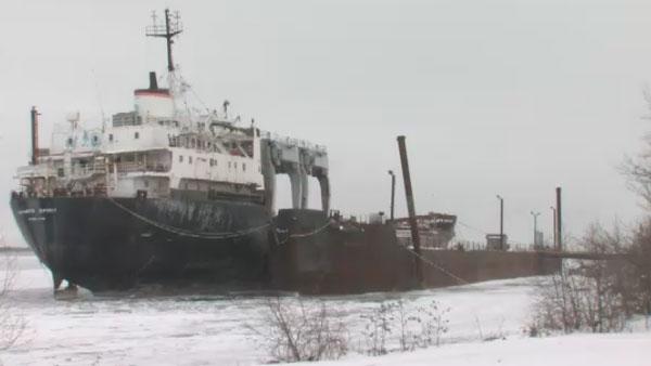 The Kathryn Spirit cargo ship.