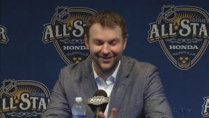 John Scott, now of the AHL IceCaps, was named MVP of the NHL All-Star game