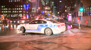 Repairs on a water main that broke underneath Rene Levesque Blvd. are slated to begin Friday morning. (CTV Montreal/Cosmo Santamaria)
