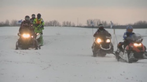 The Surete du Quebec and the province's association for snowmobilers are warning riders to watch out for thin ice.