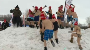 Fete des neiges snowbath