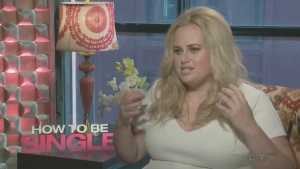 Rebel Wilson co-stars in How to be Single, a zany comedy, opposite Dakota Johnson and Leslie Mann. The film opens Friday Feb. 12th.