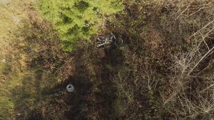 Ryan Sandnes spotted his stolen Honda dirt bike by using an aerial drone that he flew over his neighbourhood. (Courtesy Ryan Sandnes)