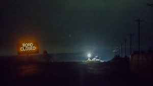 Lights are seen from the Narrows roadblock near Burns, Ore., as FBI agents have surrounded the remaining four occupiers at the Malheur National Wildlife Refuge, on Wednesday, Feb. 10, 2016. (Thomas Boyd / The Oregonian)