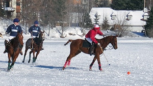 Snow polo on Lac Tremblant (photo courtesy Mont Tremblant)