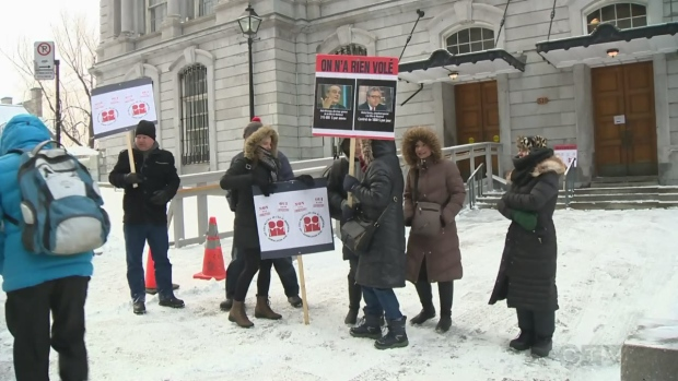 Montreal white collar workers on strike