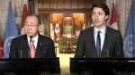 Trudeau and Ban Ki-moon