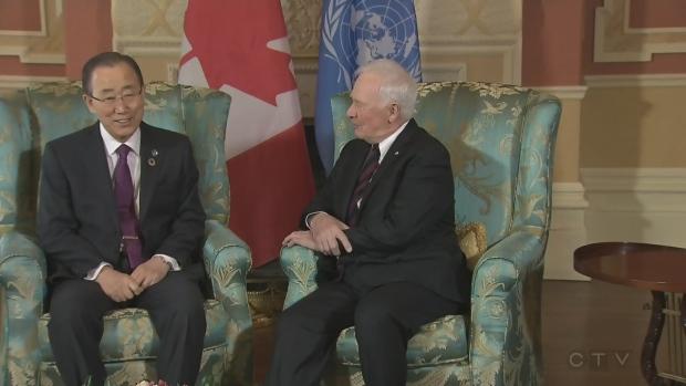 Ban Ki-Moon and David Johnston