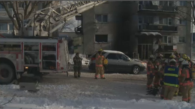 Two people are dead and a third is fighting for his life after a fire in Montreal North on Sunday morning.