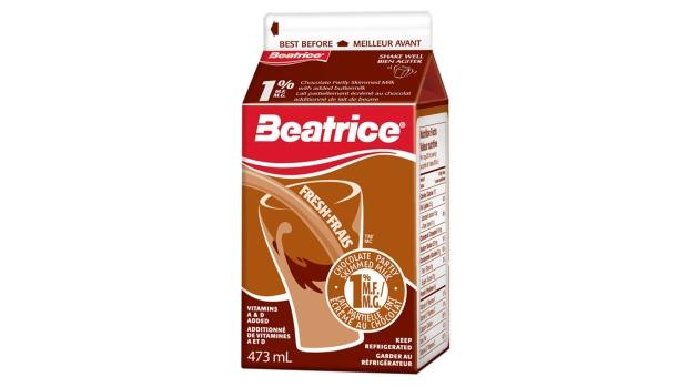Beatrice brand chocolate milk