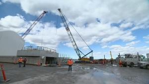 Champlain Bridge construction