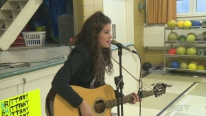 Brittany Kennell sings in her hometown of Beaconsfield on March 24, 2016