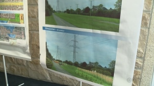 Hydro Quebec's illustration of what the new power lines in DDO will look like.