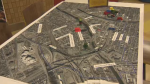 A model of the new Turcot Interchange was on display at a public consultation meeting Thursday, April 21, 2016.