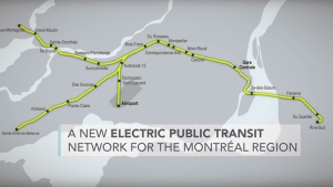 The proposed electric light rail service will have lines running throughout Montreal and its suburbs