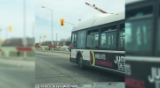 CTV Ottawa: Rail crossing bar lands on bus