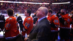 Bruce Boudreau in Anaheim, Calif., on Nov. 1, 2015. (Jae C. Hong / AP)