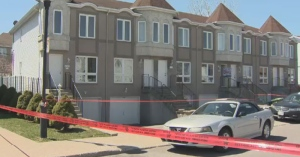 Police investigate a triple stabbing in Riviere-des-Prairies.