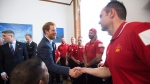 Prince Harry meets Canadian athletes at Queen's Park in Toronto, Monday, May 2, 2016 (Nathan Denette / THE CANADIAN PRESS)