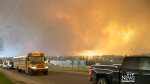 Fort McMurray residents evacuating
